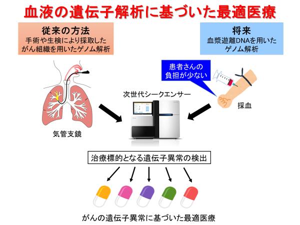 図2:血液の遺伝子解析に基づいた最適医療